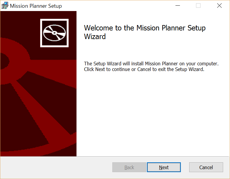 Mission Plannerのインストーラー